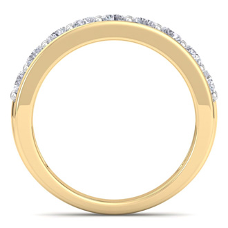 Brand New 1 Carat Natural, Earth-Mined Diamond Wedding Ring in Solid Yellow Gold, At An Amazing Low Price!