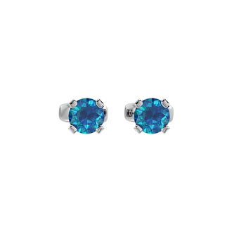 1/4 Carat Blue Diamond Stud Earrings In White Gold
