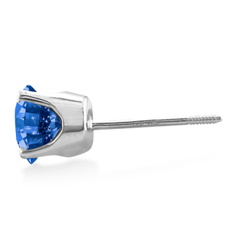 1 1/2ct Blue Diamond Stud Earrings in 14k White Gold