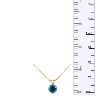 1/8ct Blue Diamond Pendant in 14k Yellow Gold