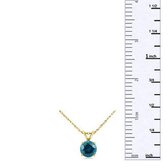 1/4ct Blue Diamond Pendant in 14k Yellow Gold