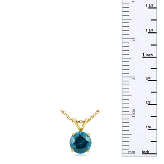 3/4ct Blue Diamond Pendant in 14k Yellow Gold