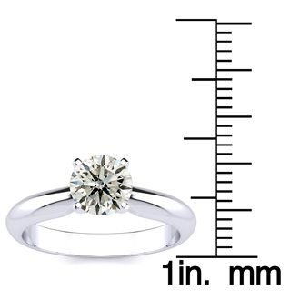 1 Carat Round Shape Diamond Solitaire Ring In Platinum