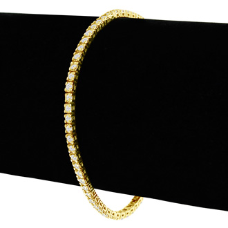 2.60 Carat diamond tennis bracelet In 14 Karat Yellow Gold, 9 Inches