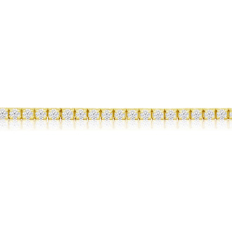 4 Carat Diamond Tennis Bracelet In 14 Karat Yellow Gold, 9 Inches