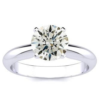 1 1/2 Carat Round Diamond Engagement Ring in 14K White Gold