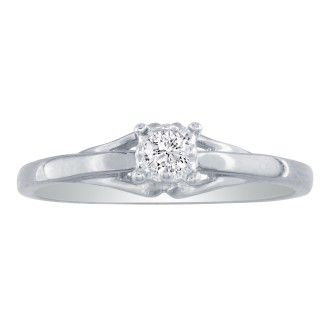 10k White Gold .05ct Diamond Promise Ring