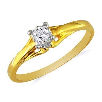 10k Yellow Gold .05ct Diamond Promise Ring