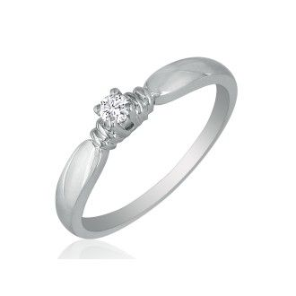 Tailored Diamond Promise Ring in 10k White Gold