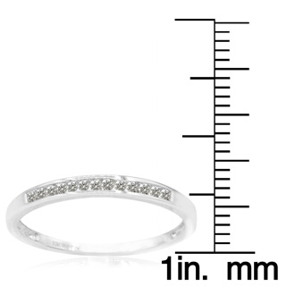 1/8ct Channel Set Diamond Band in White Gold