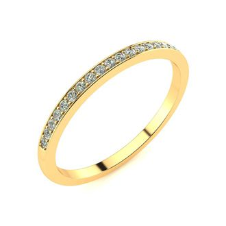 1/10ct Micropave Diamond Band in 10k Yellow Gold. All Sizes Available!
