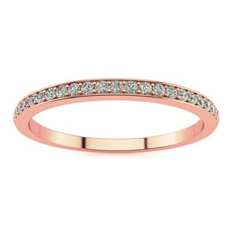1/10ct Micropave Diamond Band in 10k Rose Gold