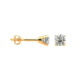 1/4 Carat Diamond Stud Earrings In 14 Karat Yellow Gold