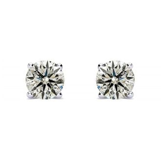 1/2ct Diamond Stud Earrings in 10k White Gold