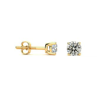 1/2ct Diamond Studs in 10k Yellow Gold