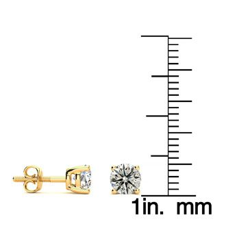 Affordable 1 1/4ct Diamond Stud Earrings In 14k Yellow Gold