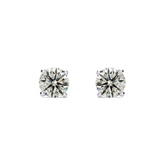 1.50ct Diamond Studs in 14k White Gold