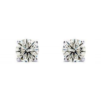 1/3 Carat Diamond Stud Earrings In 14 Karat White Gold