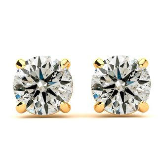 1/2 Carat Diamond Stud Earrings In 14 Karat Yellow Gold Featured on Dr. Phil