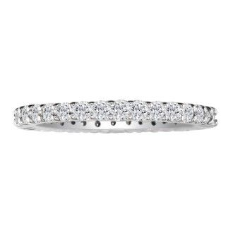 Platinum 1/2ct Diamond Eternity Band