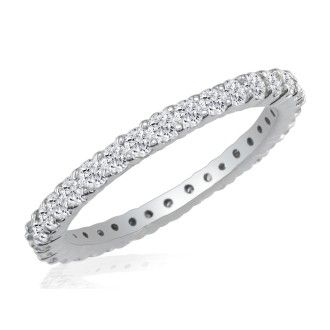 Platinum 1ct Diamond Eternity Band