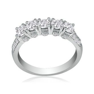 Platinum 2ct Diamond Eternity Band
