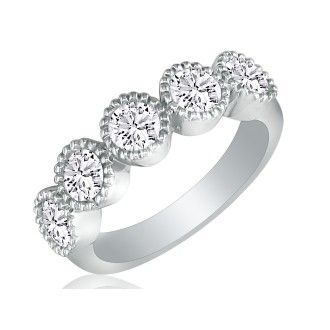 2ct Diamond Wedding Band Set in Platinum