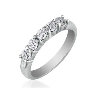 Perfect 1ct Platinum Diamond Wedding Band