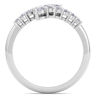 Stunning 1/2ct Journey Diamond Band in 14K White Gold