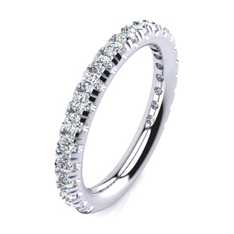 .90ct Round Diamond Wedding Band in 14k White Gold