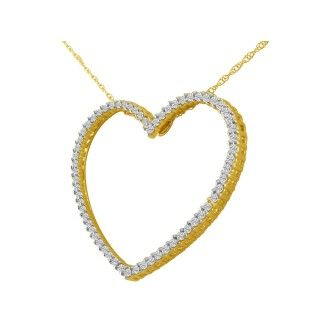 1/2ct Diamond Heart Necklace in 14k Gold