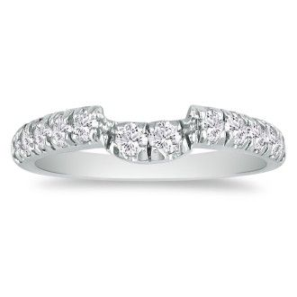 Radiant 1/4ct Diamond Wedding Band in 14K White Gold