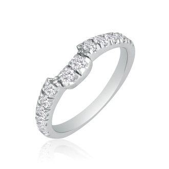 Sleek and Sparkly 3/5ct Diamond Band in 14k White Gold