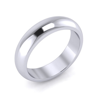 925 Sterling Silver 5MM Ladies and Mens Wedding Band, Free Engraving