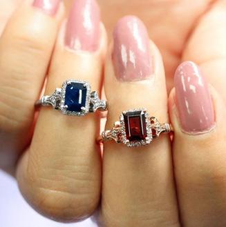 1 1/2 Carat Sapphire and Halo Diamond Vintage Ring In 14 Karat White Gold