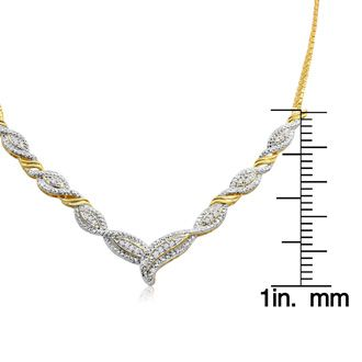1 4 Carat Diamond Designer Necklace In Yellow Gold Overlay 20