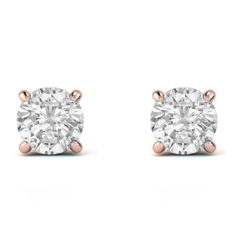 3/4ct Diamond Studs in 14k Rose Gold