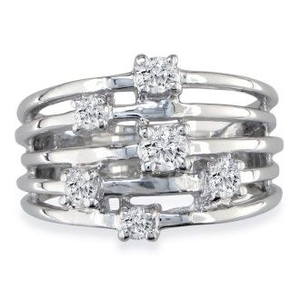 Gorgeous 1/2ct Diamond Right Hand Ring in 14k White Gold