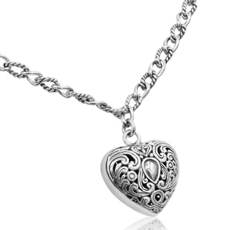 Balinese Hand Crafted Sterling Silver Necklace, 18 Inches
