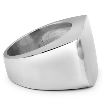 Mens Stainless Steel Square Signet Ring, With Free Custom Engraving