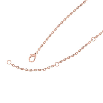 14K Rose Gold Over Sterling Silver Heart Necklace With Free Custom Engraving, 18 Inches
