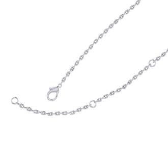 Sterling Silver Rectangular Necklace With Countess Luann Signature Statement Engraved, 18 Inches