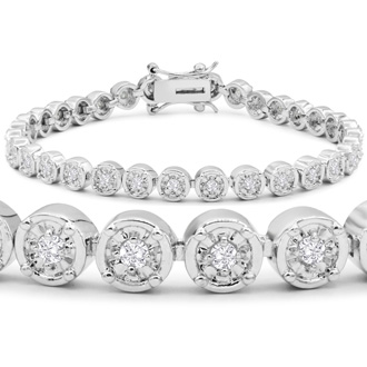 1 Carat Miracle Set Diamond Bracelet, 7 Inches