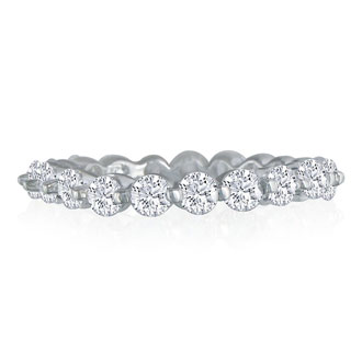 14k 2ct Classic Diamond Eternity Band, Ring Size 5