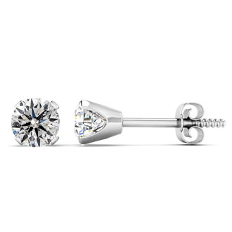 Very Special Deal. .85 Carat Diamond Stud Earrings in 14K White Gold.  Rarely Available!