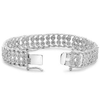 2 Carat Diamonds 2-Row Rope Bracelet, Platinum Overlay, 7 Inches