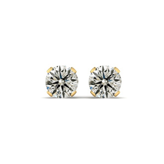 1 Carat Diamond Stud Earrings in 14K Yellow Gold. Amazing Value. Amazing Value.  She Will Love Them!