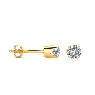 Incredible Amazing Price On Earrings You Will LOVE!  .33 Carat Genuine Natural Diamond Stud Earrings in Solid 14k Yellow Gold.  Come With WGL Appraisal!