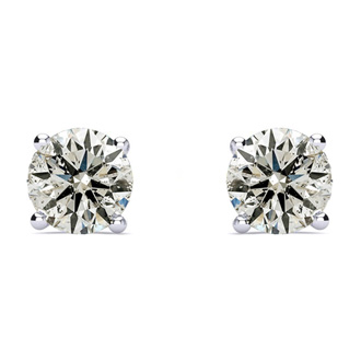 Crazy Price, Lowest Ever On 1.50 Carat Diamond Earrings!  14k Basket Settings.  Fiery and Amazing