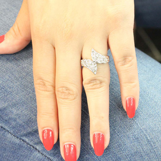 1/3 Carat Diamond Angel Wings Ring